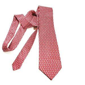 Pravata Accessories - Pravata Silk Necktie Red with Ducks